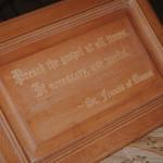 Wall plaque. Your choice of wood, size, and message or image